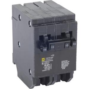 HOMT1515250 Tandem Circuit Breaker, Plug-In, HOM, (2) 1P 15A, (1) 2P 50A, 120/240V