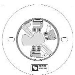 """SD505-6AB Smoke Detector Base, Diameter: 5-15/16"""", Non-Metallic, White"""
