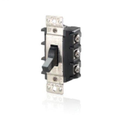 Manual Motor Switch 30A 600VAC, Standard Toggle, 3P Black