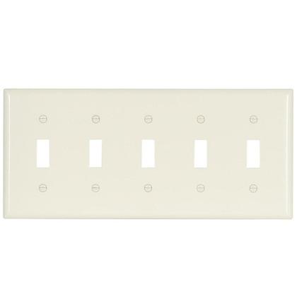 Wallplate 5G Toggle Thermoset Std AL