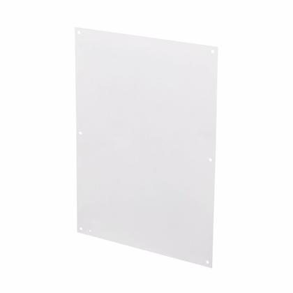 "Panel For Enclosure, NEMA Flat, 30 x 30"", Steel/White"