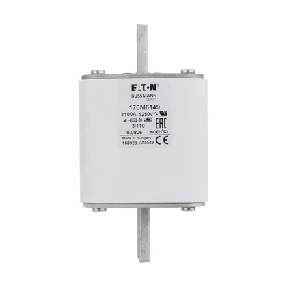 1100A Square Body DIN 43-653 Fuse, Size 3, Visual Indicator, 1250V IEC