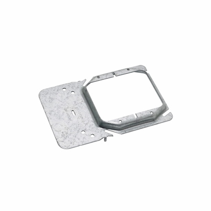 """Box Support/Cover Plate Mounting Bracket, 2-Gang, 3/4"""" Raised"""
