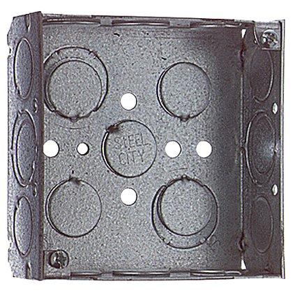 "4"" Square Box, Welded, Metallic, 1-1/2"" Deep"