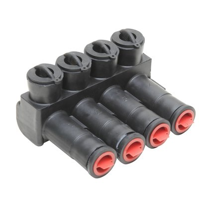 Multi-Tap Connector, Aluminum, Insulated, 12 AWG to 350 MCM