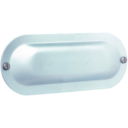 """4"""" Stamp Steel Form 8 Conduit Cover"""