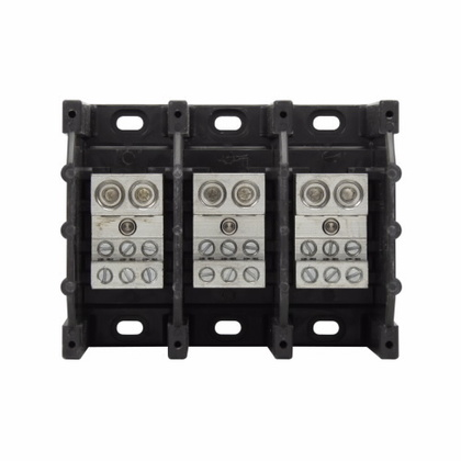 Power Distribution Block, 3-Pole, Double Primary - Multiple Secondary