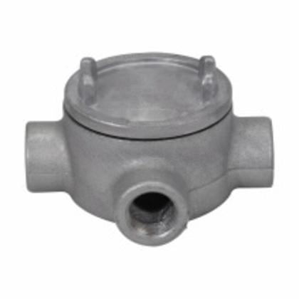 "Conduit Outlet Box, Type GUAX, (4) 1-1/2"" Hubs, Aluminum"