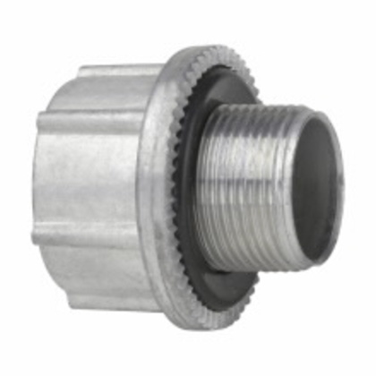 "Hub Adapter, Metric to NPT, Size M25 to 3/4"", Zinc"