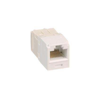 Snap In Connector, Mini-Com, TX6 PLUS UTP, Cat 6, White
