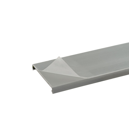 """PANDUCT Wiring Duct Cover, 2"""" x 6', PVC, Gray, Protective Film"""