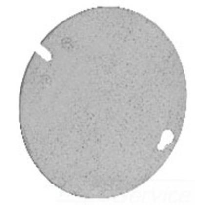 4 OCT BOX CVR FLT BLNK RND SHAPE