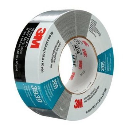 Utility Duct Tape, 48mm x 54.8m, Silver, 9 mil