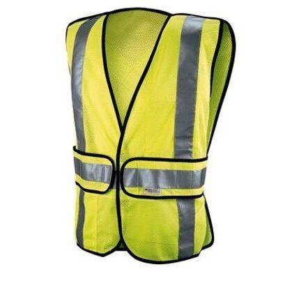 Reflective Safety Vest, Class 2 Construction, Hi-Viz, Yellow