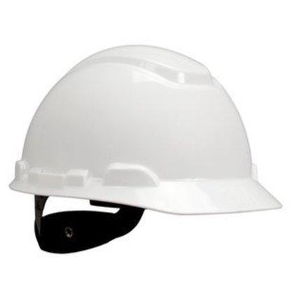 Hard Hat, White, 4-Point Pinlock Suspension