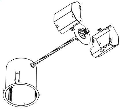 "6"" Recessed Pan Conversion Kit, 120V, GU24"