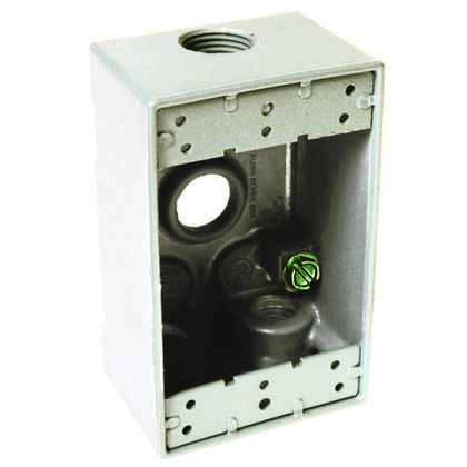 ETP™ Weatherproof Outlet Box, Metallic