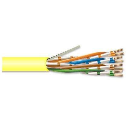 Category 5e Cable, Riser, 24 AWG, 4-Pair, 350MHz, Yellow, 1000'