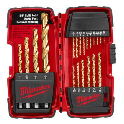 Titanium Drill Bit Kit, 20 Pc