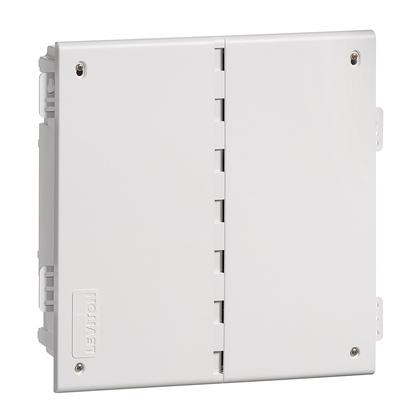 """14"""" Wireless Media Enclosure w Cover, Plastic, White"""