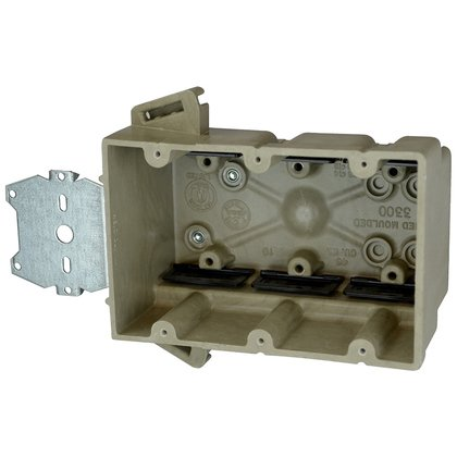 Three gang electrical box for use with nonmetallic sheathed cable