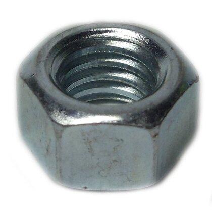Hex Machine Nut, 1/4-20, Zinc Plated Steel