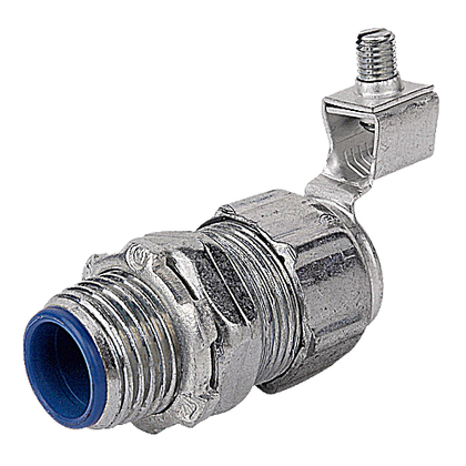 """Liquidtight Grounding Connector, Straight, Insulated, 4"""", Iron"""