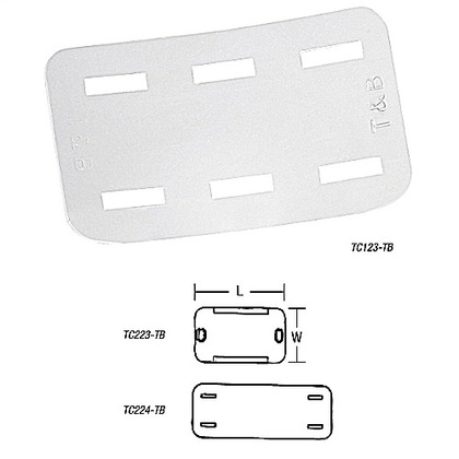TB TC223-TB CABLE TIE NYLON ID PLAT