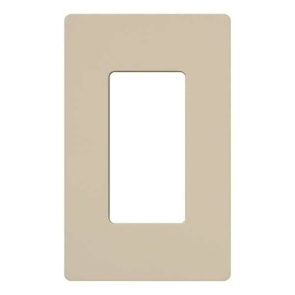Dimmer/Fan Control Wallplate, 1-Gang, Satin Series, Taupe Finish