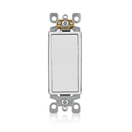 3-Way Decora Switch, 15A, 120/277V, White, Residential Grade