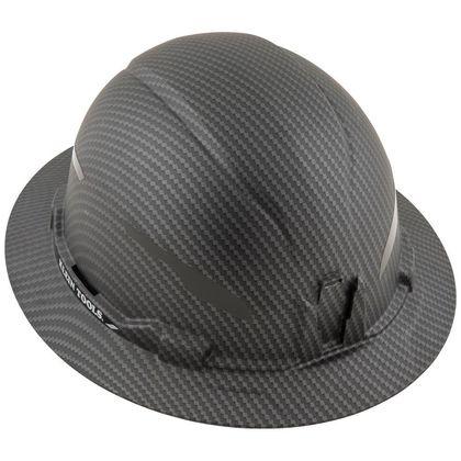 Hard Hat, Premium KARBN™, Non-Vented Full Brim, Class E