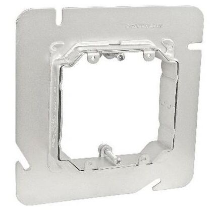 6 SQUARE 2-GANG ADJUSTABLE DEVICE RING