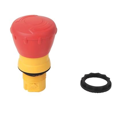 Push Button, Twist to Release, 40mm Mushroom Head, Red, Plastic