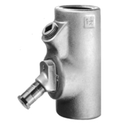 "Sealing Fitting With Drain, Female, Hub: 1/2"", Iron Alloy"