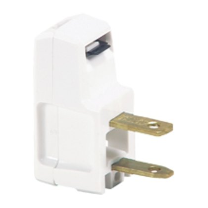Plug Angle Super 15A 125V 2P2W NonPol WH