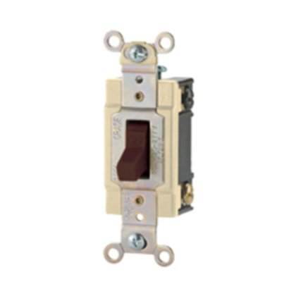 Switch Toggle SP 20A 120/277V B/Swire WH