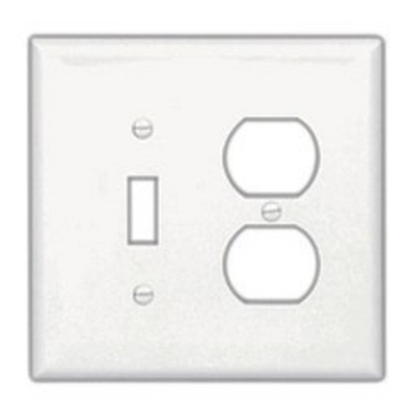 Wallplate 2G Toggle/Deco Poly Mid GY