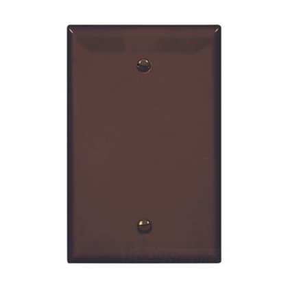 Wallplate 1G Blank Box Mount Poly Mid BR