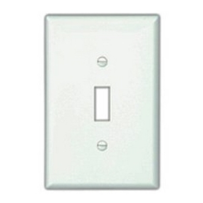 Wallplate 6G Toggle Poly Mid WH