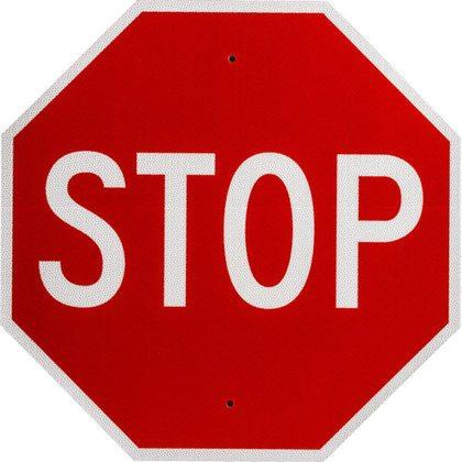 BRADY 95044 PREMIUM STOP SIGN 24X24