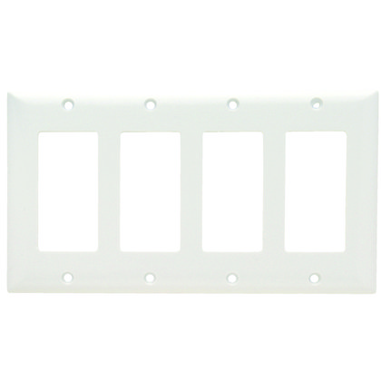 PLATE PLASTIC 4G 4SPLEX W/OUT LINE W