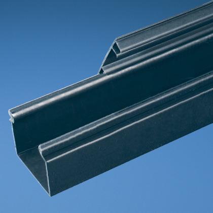 Solid Hinged Duct,PVC,1.5X3X6',Black