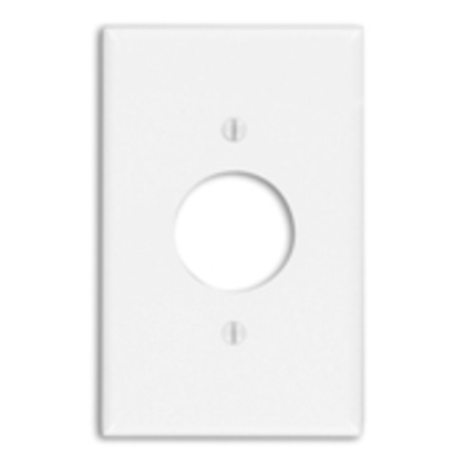 """Single Receptacle Wallplate, 1-Gang, 1.406"""" Hole, Thermoset, Lt. Almond, Midway"""