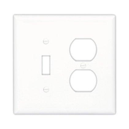 Wallplate 2G Toggle/Blank Poly Mid AL
