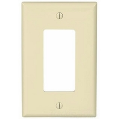 Wallplate 1G Decorator Poly Mid AL