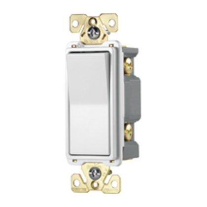 Switch Deco DP 20A 120/277V AutoGrd WH