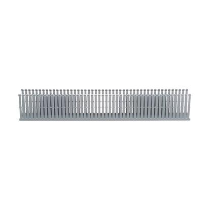 """Wiring Duct,  Narrow Slot, 2"""" x 4"""" x 6', PVC, Gray"""