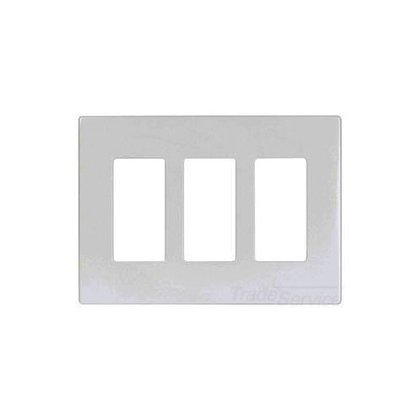 Wallplate 3G Deco Screwless Poly Mid WH