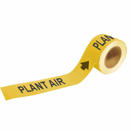 """Economy PLANT AIR Pipe Marker, 1"""" x 8"""""""