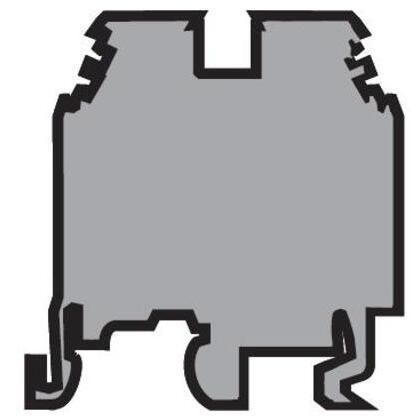 Terminal Block, Feed Through, M 4/6, 6mm, Gray, Screw Clamp
